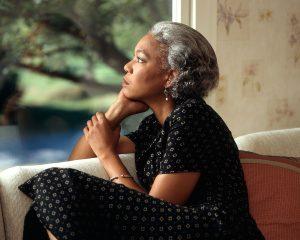 woman pondering problem